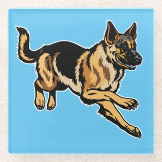 ジャーマン・シェパード犬 ガラスコースター