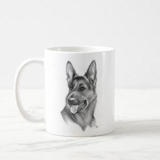 ジャーマン・シェパード犬 コーヒーマグカップ