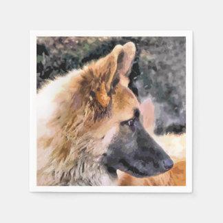ジャーマン・シェパード犬 スタンダードカクテルナプキン