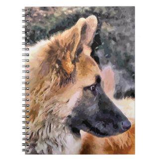 ジャーマン・シェパード犬 ノートブック