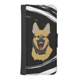 ジャーマン・シェパード犬 iPhoneSE/5/5sウォレットケース