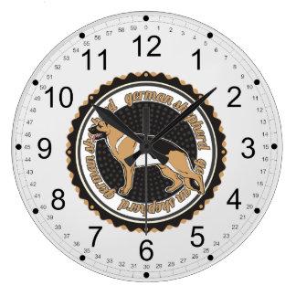 ジャーマン・シェパード ラージ壁時計