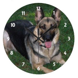 ジャーマン・シェパード: 柱時計 ラージ壁時計
