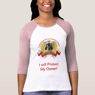 """ジャーマン・シェパード""""私は保護します私の所有者""""を Tシャツ"""