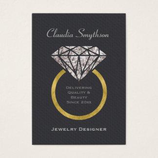 ジュエリーデザイナー名刺のダイヤモンド指輪 名刺
