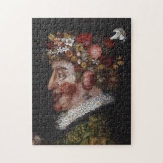 ジュゼッペ・アルチンボルドのパズル-黒の花 ジグソーパズル