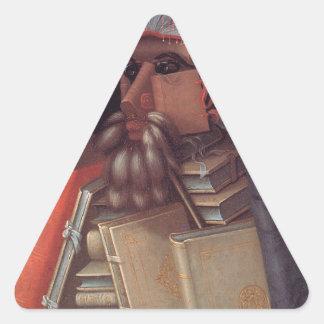 ジュゼッペ・アルチンボルド著司書 三角形シール