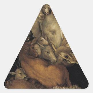 ジュゼッペ・アルチンボルド著地球 三角形シール