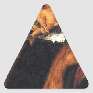 ジュゼッペ・アルチンボルド著弁護士 三角形シール