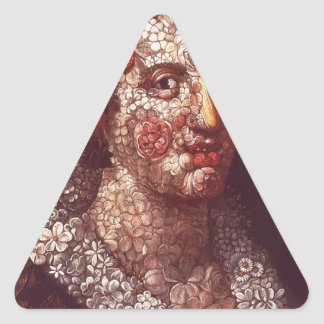 ジュゼッペ・アルチンボルド著植物相 三角形シール