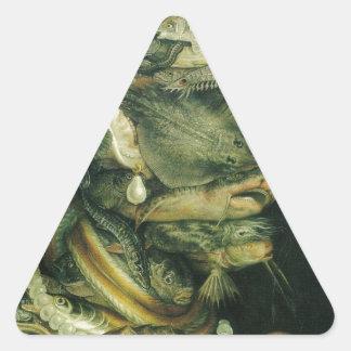 ジュゼッペ・アルチンボルド著水 三角形シール