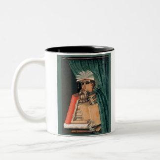 ジュゼッペ・アルチンボルド-司書 ツートーンマグカップ
