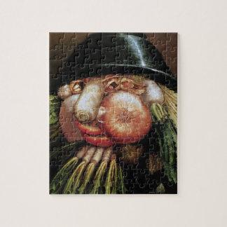 ジュゼッペ・アルチンボルド; 緑の食料商人、野菜 ジグソーパズル