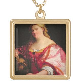 ジュディス、c.1525-28 (キャンバスの油) ゴールドプレートネックレス