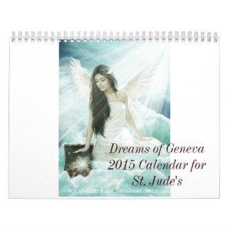 ジュネーブの2015の夢15か月のカレンダー カレンダー