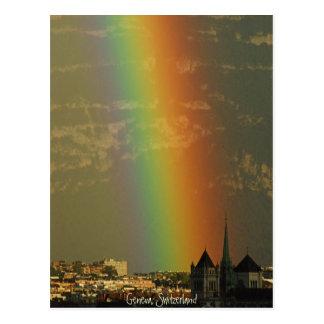 ジュネーブ上の虹 ポストカード