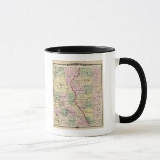ジュノーおよびアダムス郡の地図 マグカップ