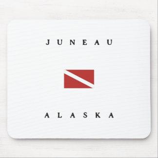 ジュノーアラスカのスキューバ飛び込みの旗 マウスパッド