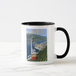 ジュノー、アラスカの上の市街電車ヴィンテージ旅行ポスター マグカップ