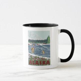 ジュノー、アラスカ-はえの漁師 マグカップ