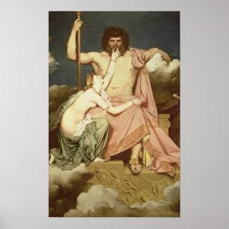 ジュピターおよびThetis 1811年 ポスター