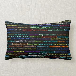 ジュピターの島文字デザインなIのLumbarの枕 ランバークッション