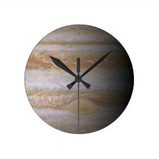 ジュピターの惑星の天文学の星雲の宇宙の銀河系 ラウンド壁時計