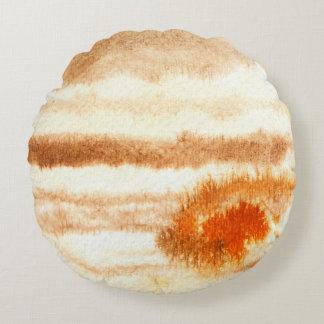 ジュピターの惑星の水彩画の円形の枕 ラウンドクッション