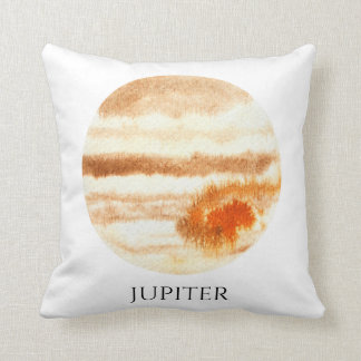 ジュピターの惑星の水彩画の枕 クッション