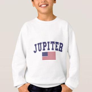 ジュピター米国の旗 スウェットシャツ