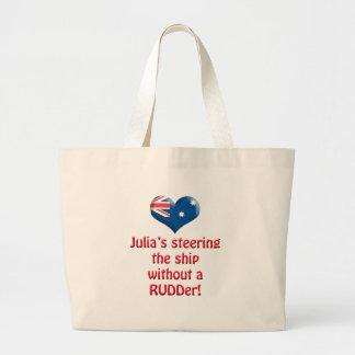 ジュリアのステアリング船 ラージトートバッグ