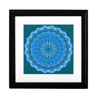 ジュリアの曼荼羅の青い記念品箱 ギフトボックス