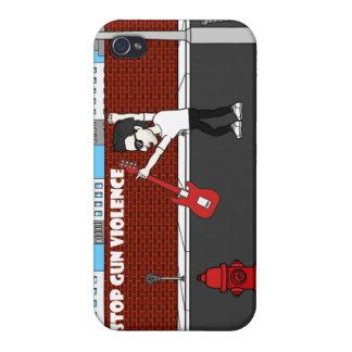 ジュリアンのラインの電話箱との銃犯罪をストップ iPhone 4 CASE