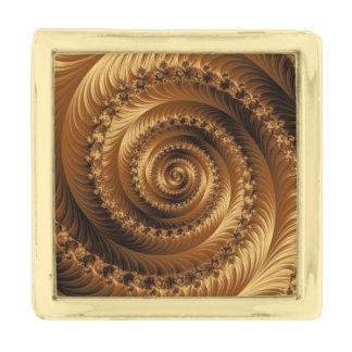 ジュリアンの金螺線形タイピン ゴールド ラペルピン