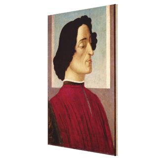 ジュリアーノのde Medici c.1480のポートレート キャンバスプリント