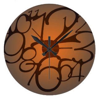 ジュリーEverhart著つぶされた柱時計 ラージ壁時計