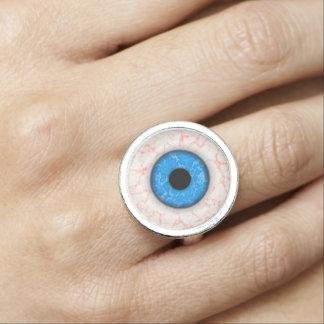 ジュリーEverhart著大きい青い目のファッションのリング リング