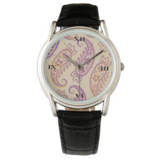 ジュリーEverhart著色彩の鮮やかなペイズリーのファッション・ウォッチ 腕時計