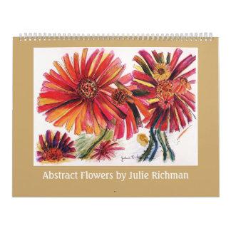 ジュリーRichman著抽象的な花 カレンダー