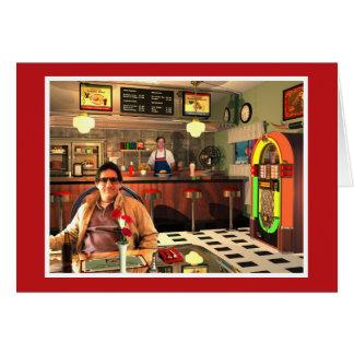 ジュークボックスのダイナーの赤 カード