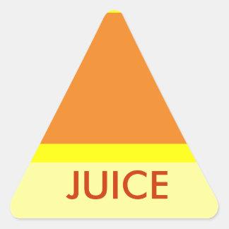 ジュースのtriangeのステッカー 三角形シール