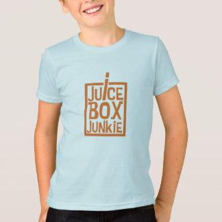 ジュース箱の麻薬常習者のオレンジ Tシャツ