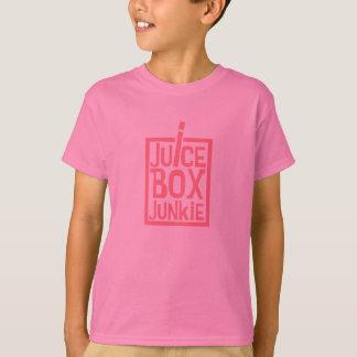 ジュース箱の麻薬常習者のピンク Tシャツ