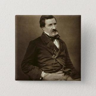ジュールFrancois Felix Husson、「Champfleury」(1821-8年 5.1cm 正方形バッジ