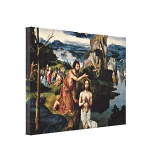 ジョアキムPatinir -キリストの洗礼 キャンバスプリント