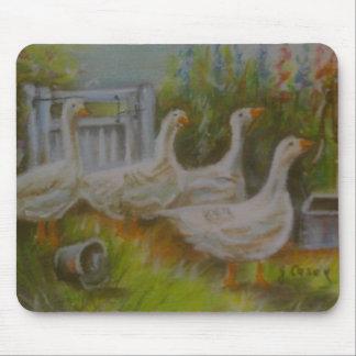 ジョアンヌCasey著4羽のアイルランドのガチョウのパステル調のスケッチ- マウスパッド