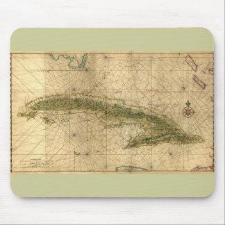 ジョアンVinckeboons著キューバの歴史的な1639地図 マウスパッド