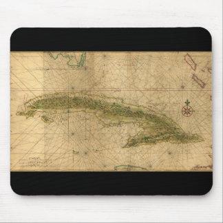 ジョアンVinckeboons 1639年著キューバの島の地図 マウスパッド