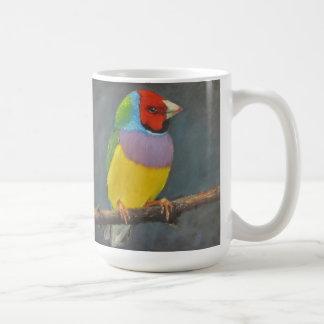 ジョイスBrandon著Gouldianのフィンチの虹の鳥の芸術 コーヒーマグカップ