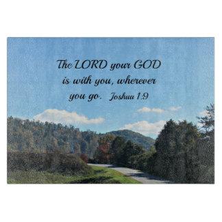 ジョシュアの1:9主はあなたとあなたの神あります カッティングボード